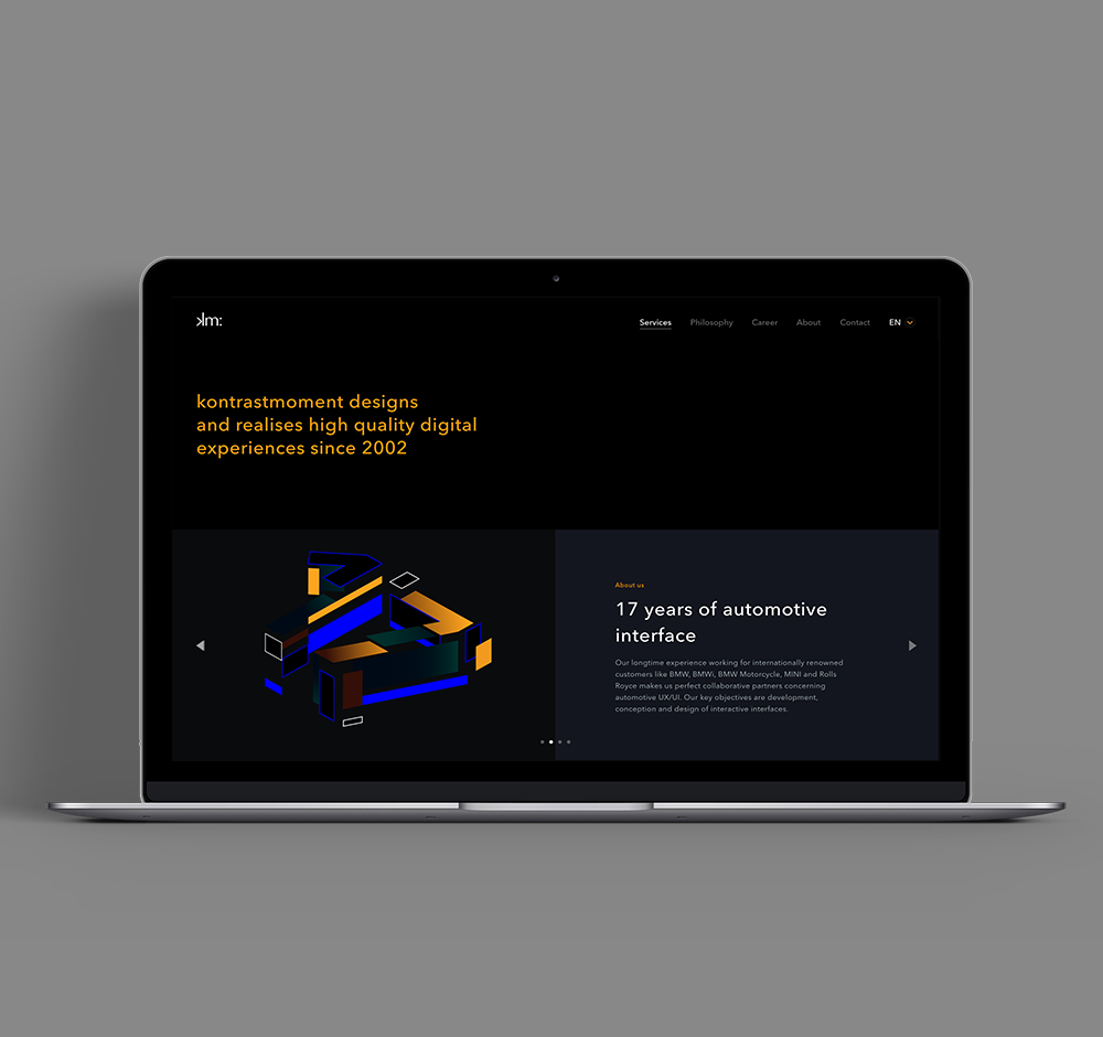 Brand and website Redesign for kontrastmoment